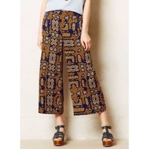 Anthropologie Sampa Wide Leg Culotte Pants